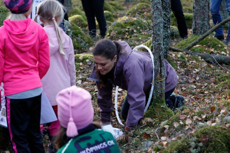 La princesse Victoria de Suède dans le comté d'Östergötland, le 26 octobre 2017