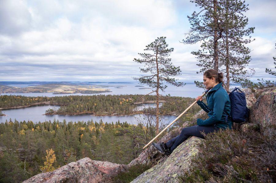 La princesse Victoria de Suède dans l'Angermanland, le 3 octobre 2018