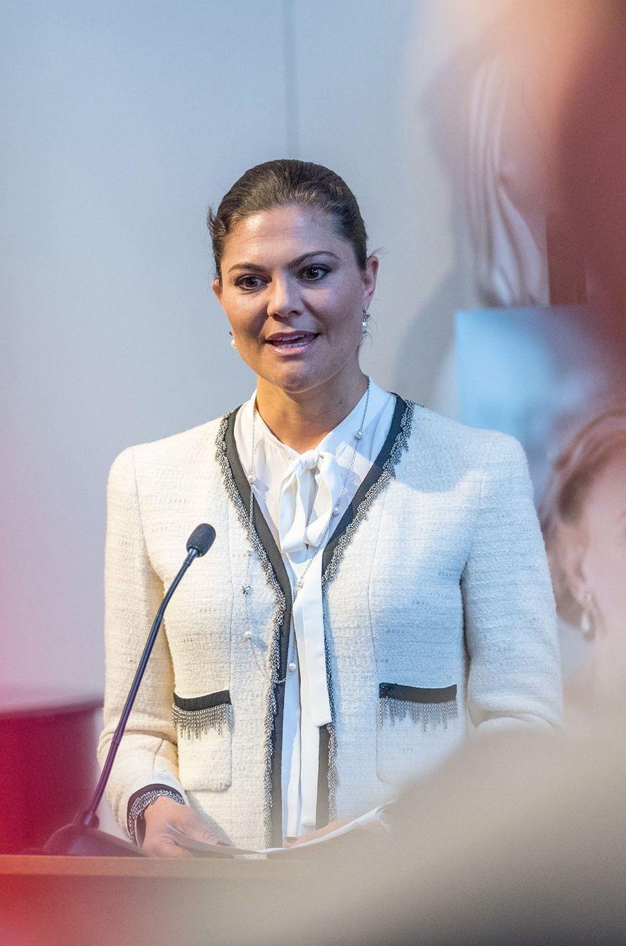 La princesse Victoria de Suède à Stockholm, le 16 mars 2017