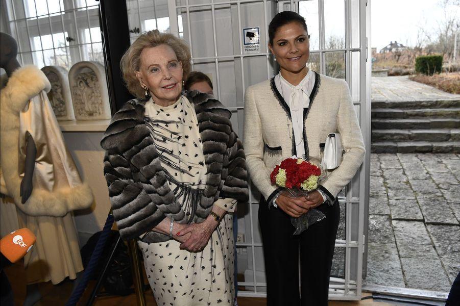 La princesse Victoria de Suède et la comtesse Marianne Bernadotte à Stockholm, le 16 mars 2017