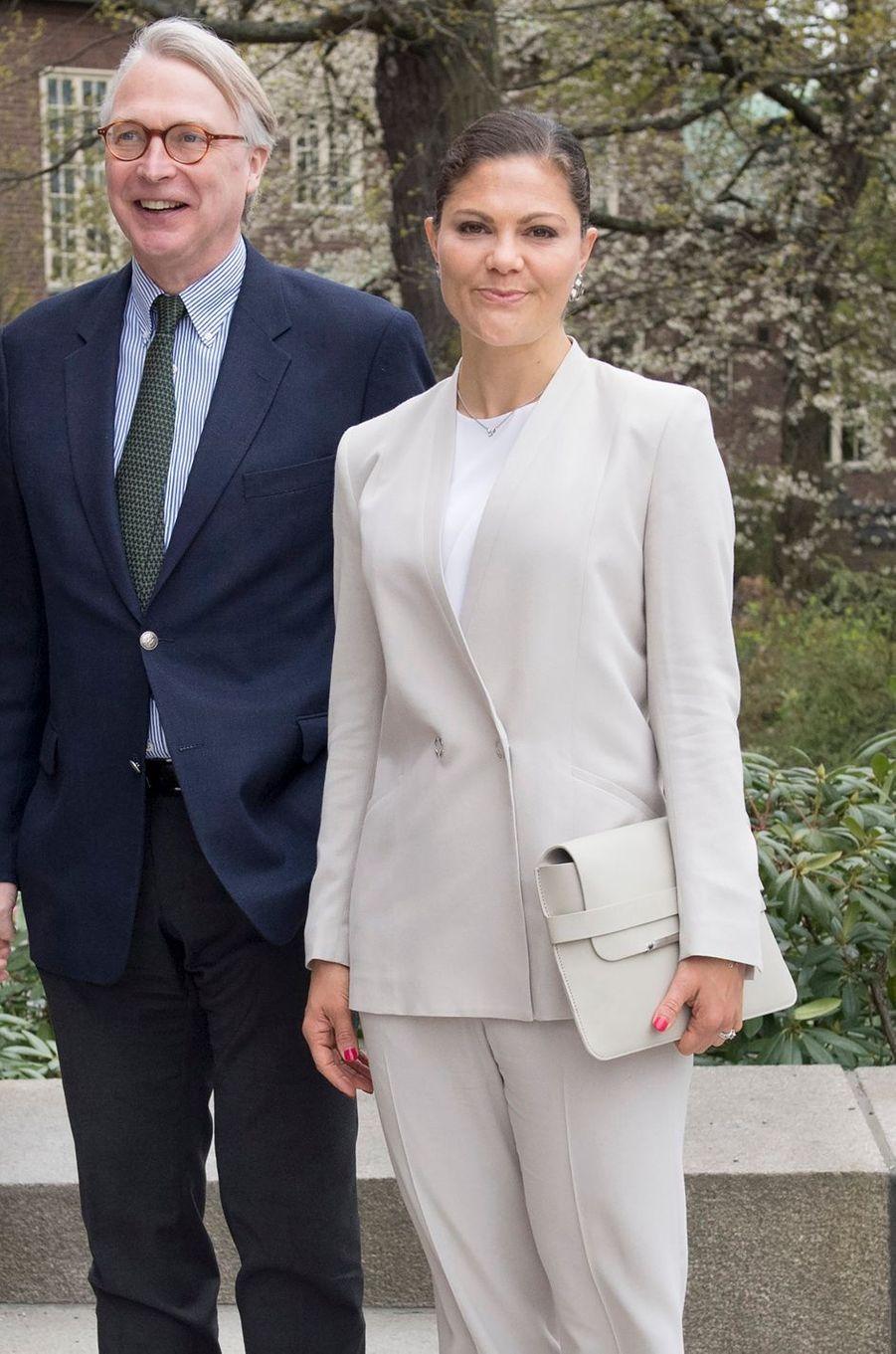 La princesse Victoria de Suède aux Keystone Dialogues à Stockholm, le 15 mai 2017