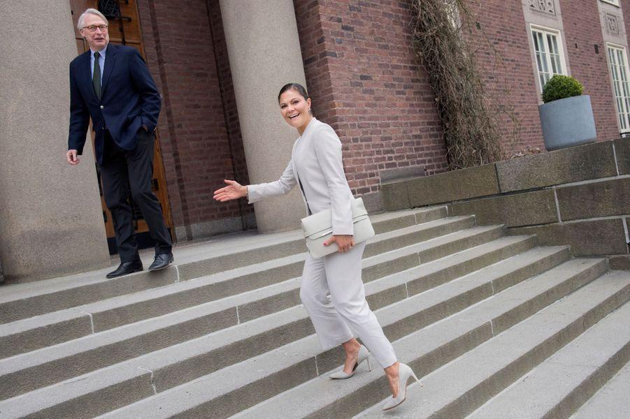 La princesse Victoria de Suède à Stockholm, le 15 mai 2017