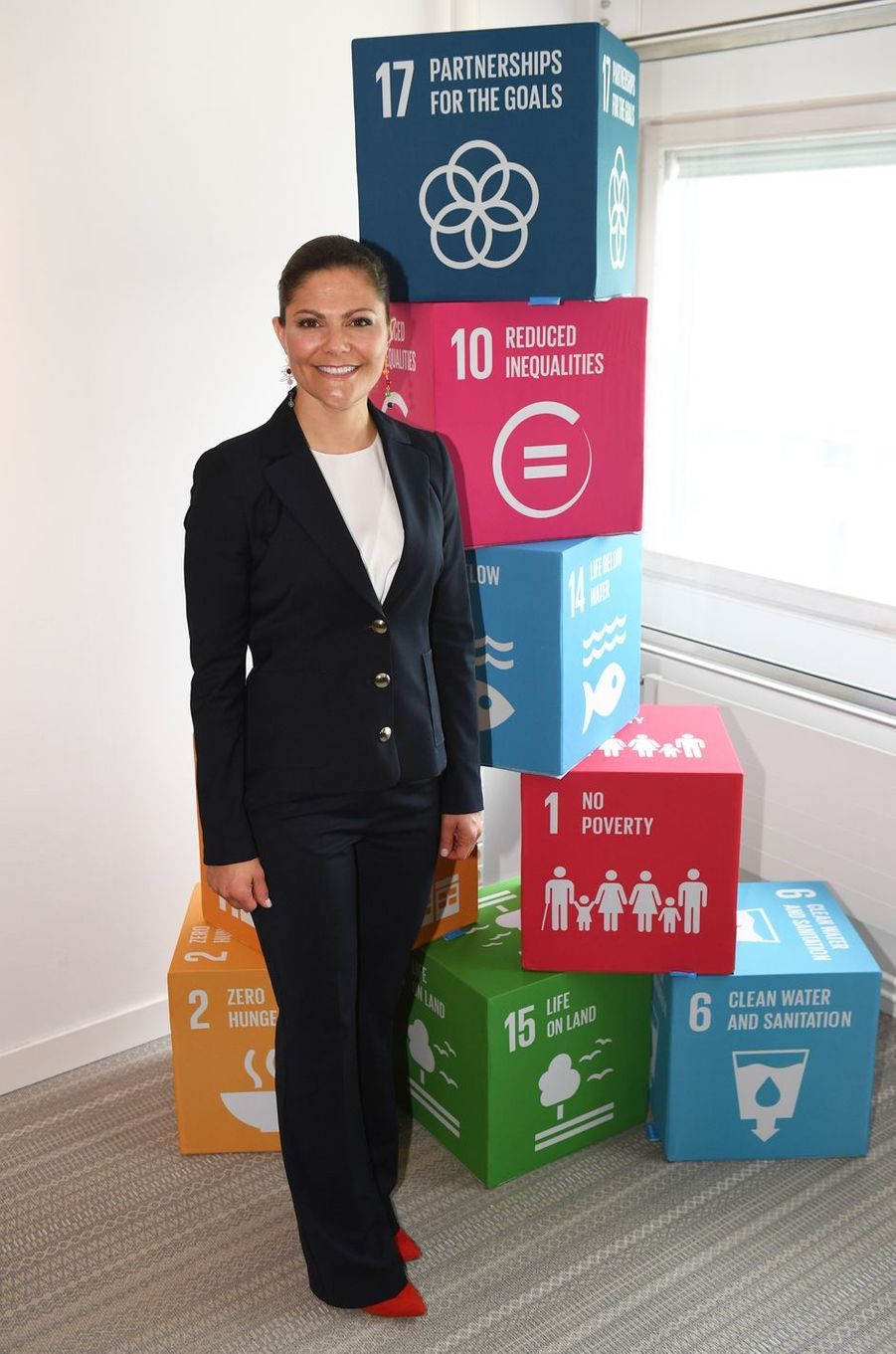 La princesse Victoria de Suède à l'assemblée de Swedish Leadership for Sustainable Development à Stockholm, le 18 mai 2017