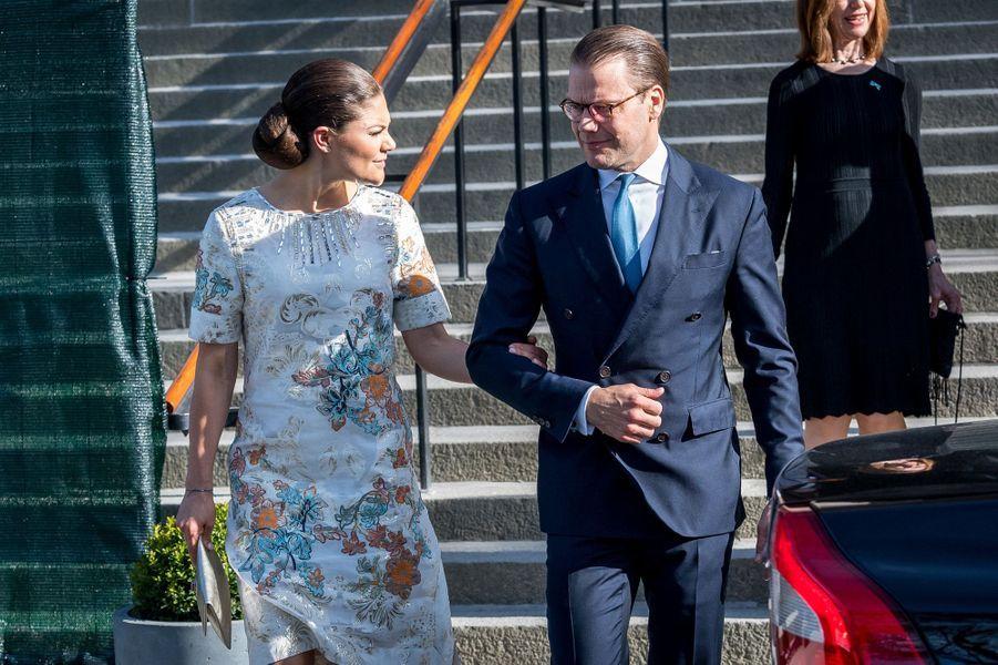 La princesse Victoria de Suède et le prince consort Daniel à Stockholm, le 18 mai 2017
