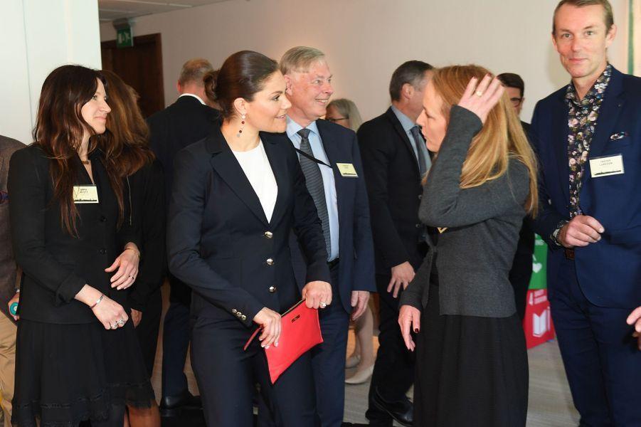 La princesse Victoria de Suède à Stockholm, le 18 mai 2017