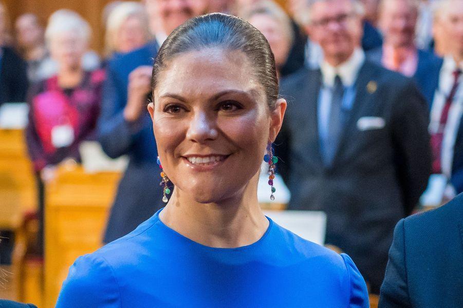 La princesse Victoria de Suède à Stockholm, le 18 octobre 2017