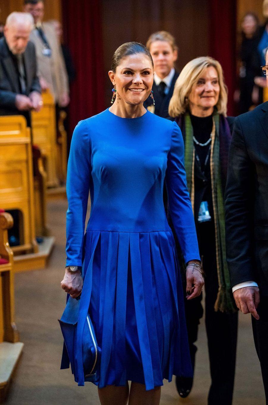 La princesse héritière Victoria de Suède à Stockholm, le 18 octobre 2017