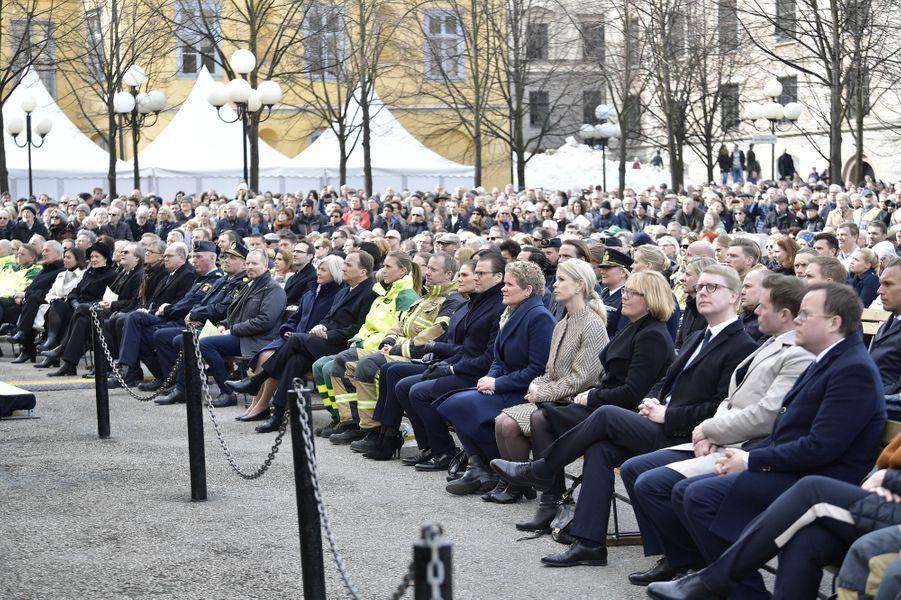 La princesse Victoria de Suède et le prince consort Daniel à Stockholm, le 7 avril 2018