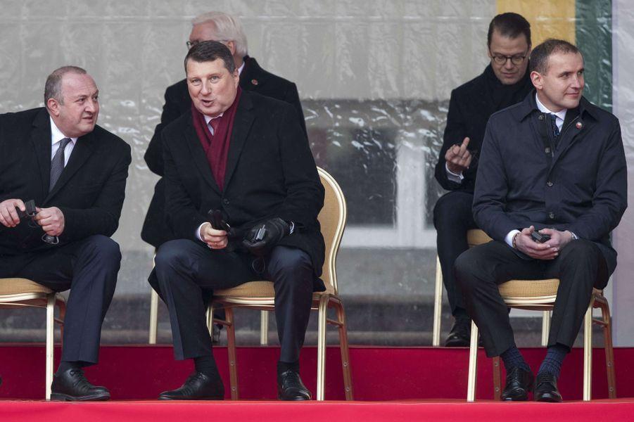 Le prince Daniel de Suède à Vilnius, le 16 février 2018