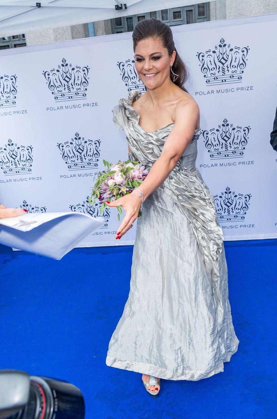 Les princesses Victoria de Suède à Stockholm, le 15 juin 2017