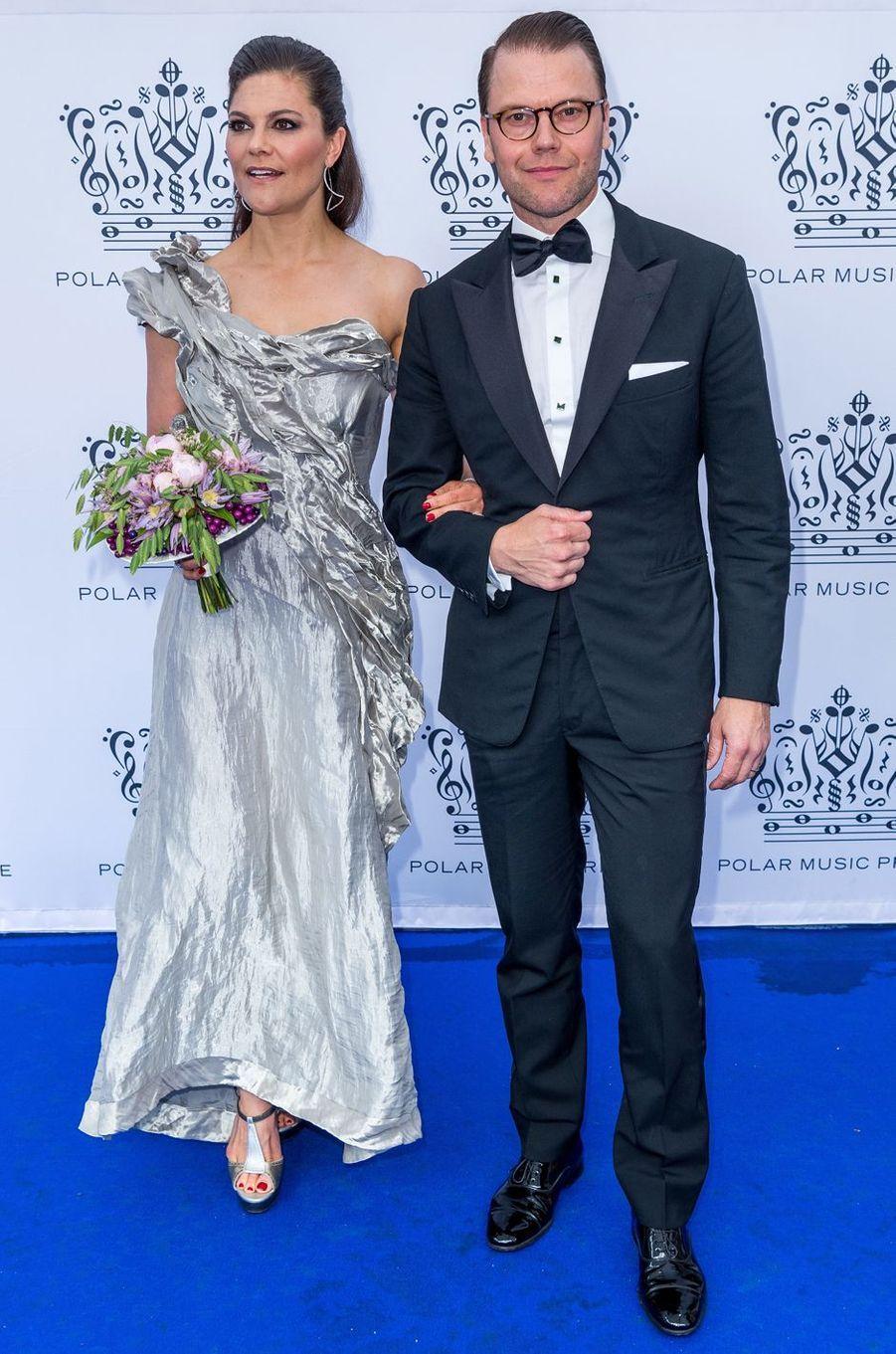 La princesse Victoria de Suède et le prince Daniel à Stockholm, le 15 juin 2017