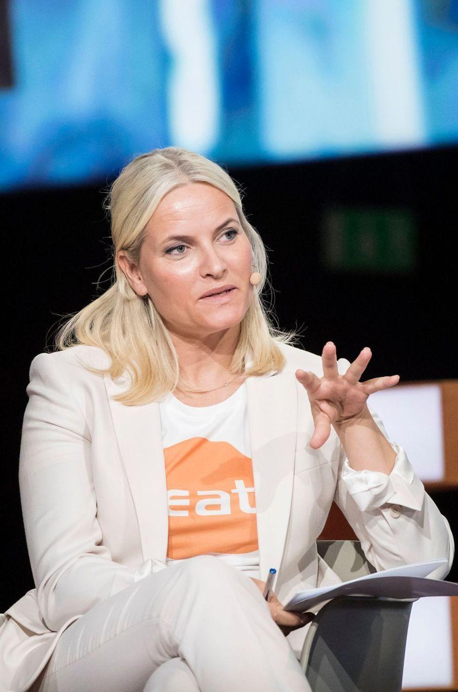 La princesse Mette-Marit de Norvège à Stockholm, le 14 juin 2016