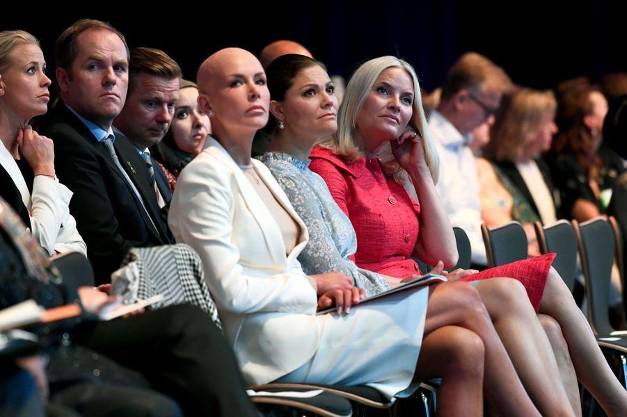 Les princesses Victoria de Suède et Mette-Marit de Norvège à Stockholm, le 13 juin 2016