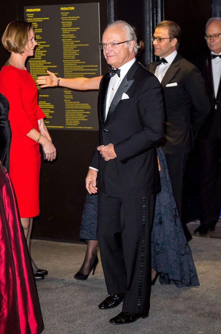 Le roi Carl XVI Gustaf de Suède et le prince Daniel à Stockholm, le 14 novembre 2017