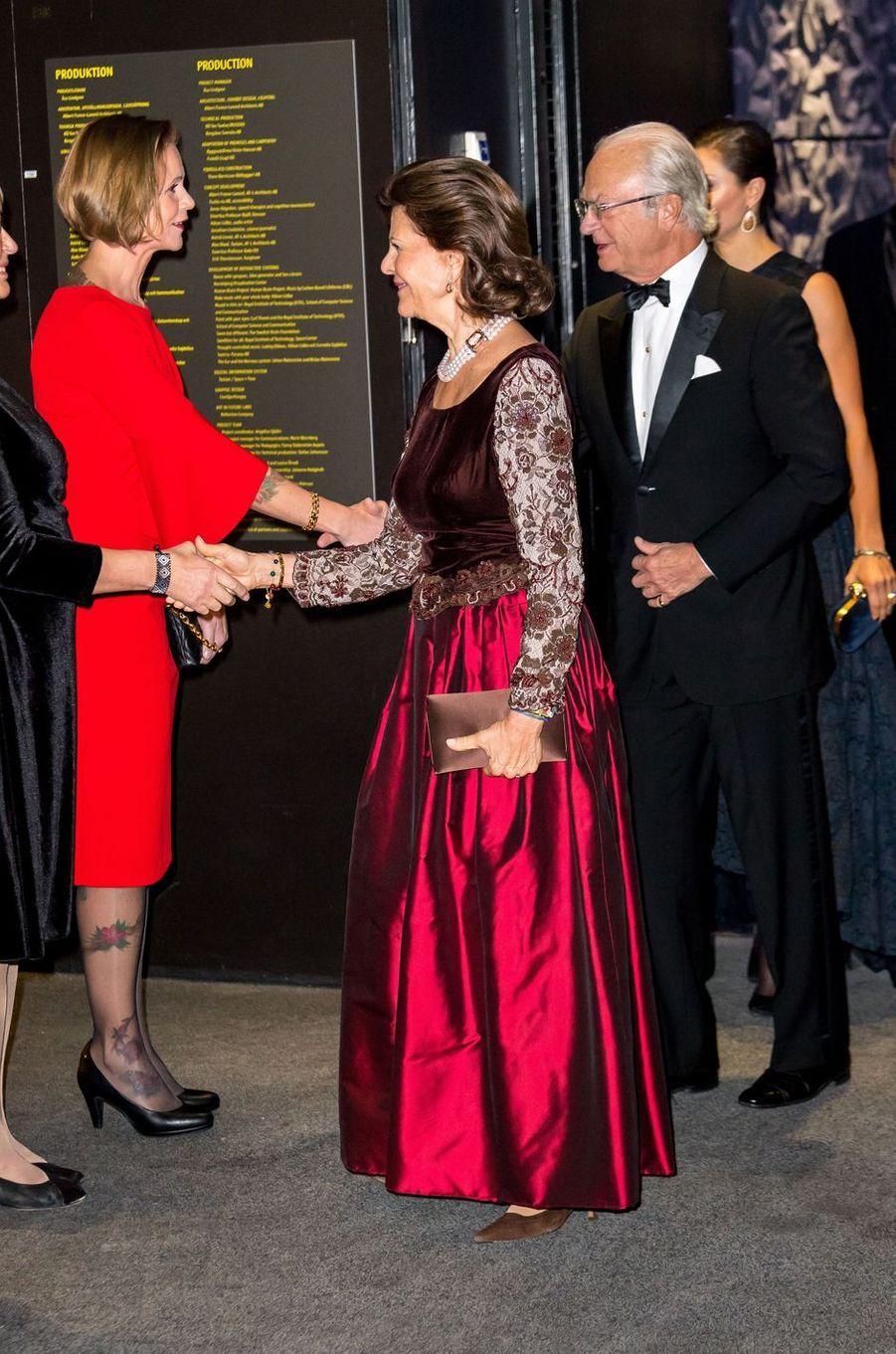 La reine Silvia et le roi Carl XVI Gustaf de Suède à Stockholm, le 14 novembre 2017