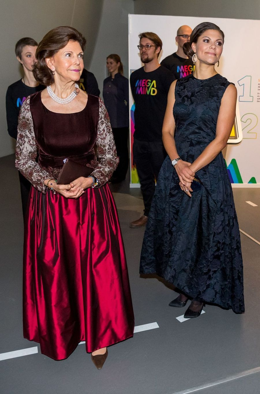 La reine Silvia et la princesse Victoria de Suède à Stockholm, le 14 novembre 2017