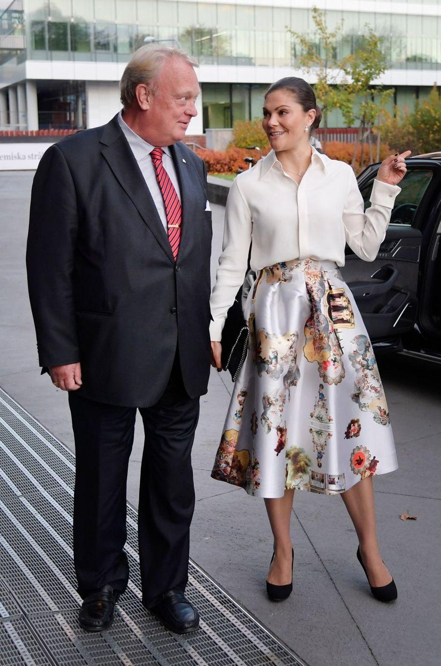 La princesse Victoria de Suède à Solna, le 16 octobre 2017