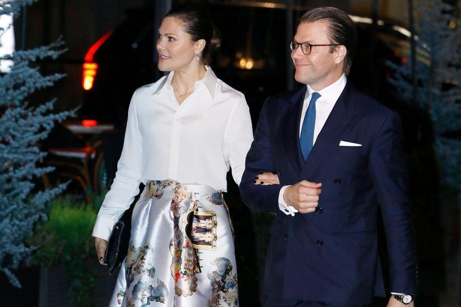 La princesse héritière Victoria de Suède et le prince consort Daniel, à Stockholm le 16 octobre 2017