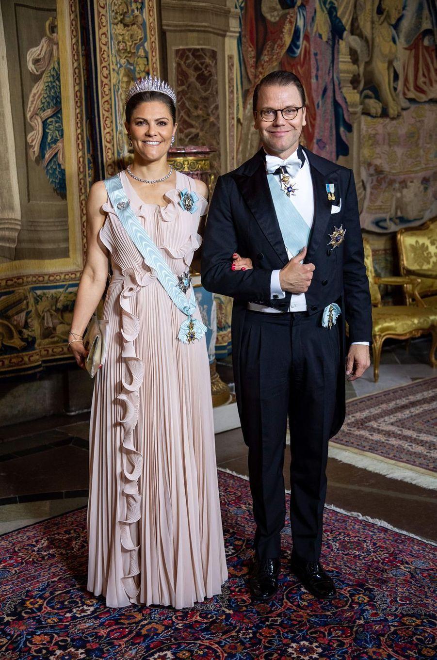 La princesse Victoria de Suède et le prince consort Daniel à Stockholm, le 31 mai 2018