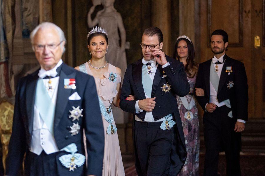 La famille royale de Suède à Stockholm, le 31 mai 2018
