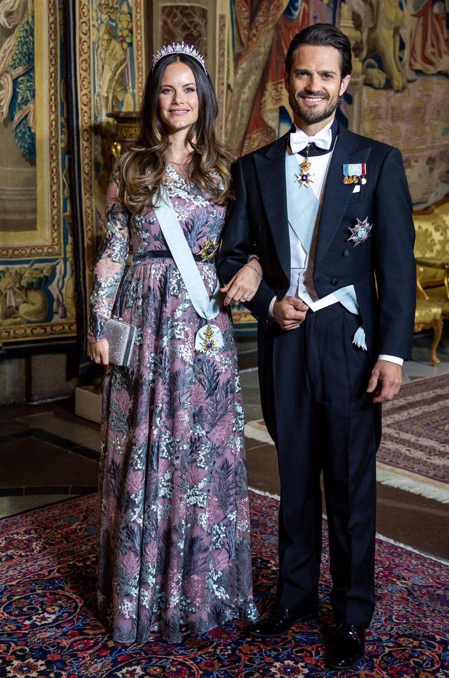 La princesse Sofia et le prince Carl Philip de Suède à Stockholm, le 31 mai 2018