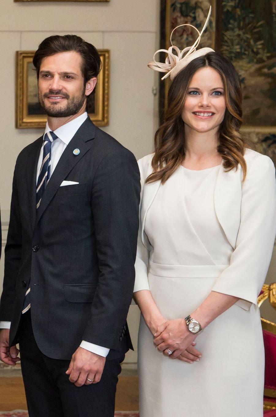 La princesse Sofia et le prince Carl Philip de Suède à Stockholm, le 10 mai 2016