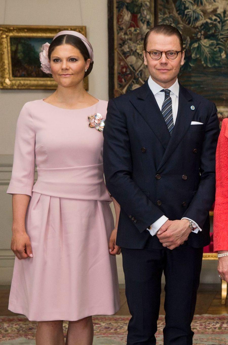 La princesse Victoria de Suède et le princes consort Daniel à Stockholm, le 10 mai 2016