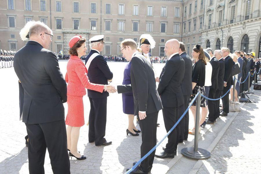 La reine Silvia de Suède à Stockholm, le 10 mai 2016