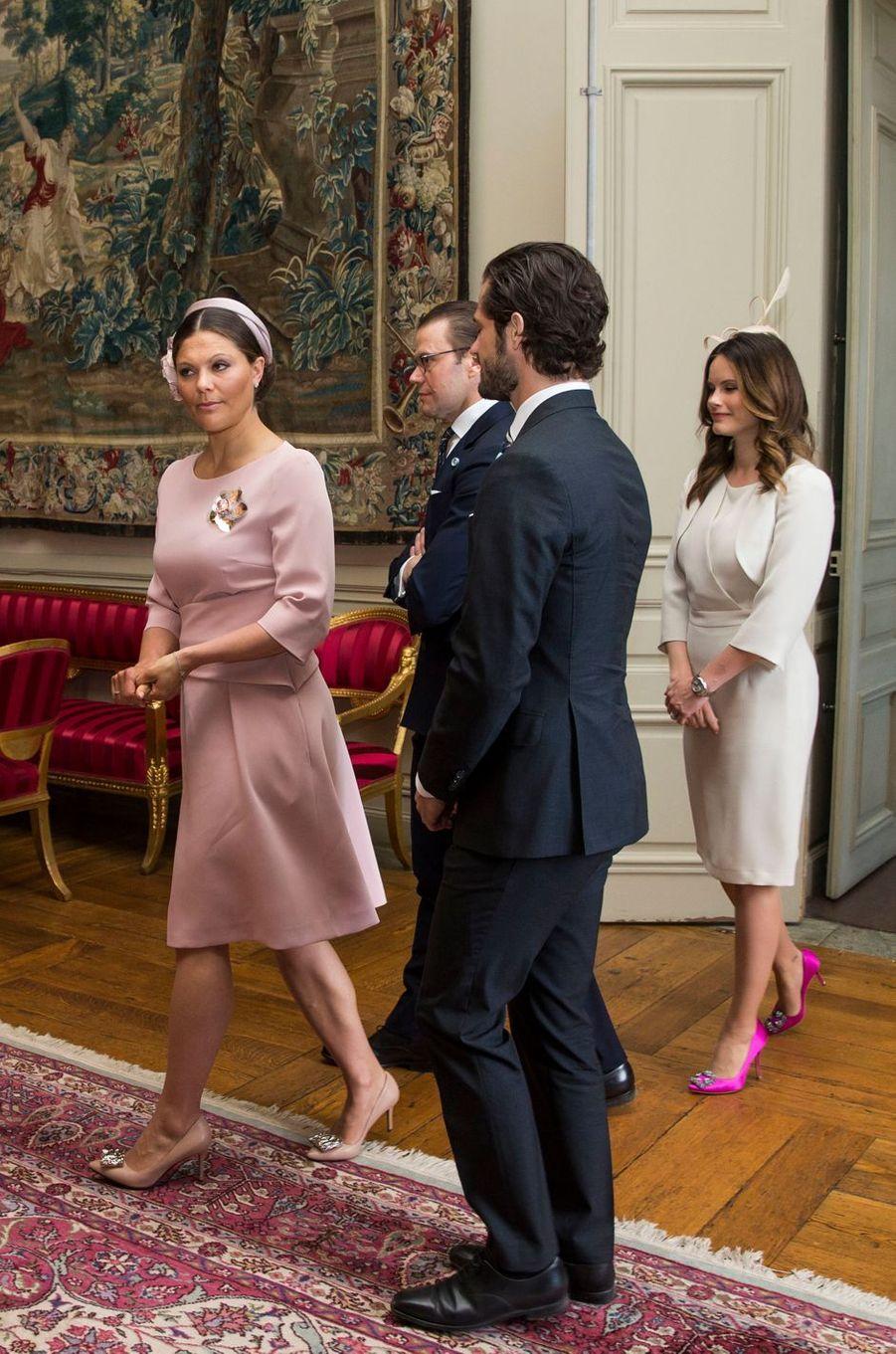 Les princesses Victoria et Sofia et les princes Daniel et Carl Philip de Suède à Stockholm, le 10 mai 2016