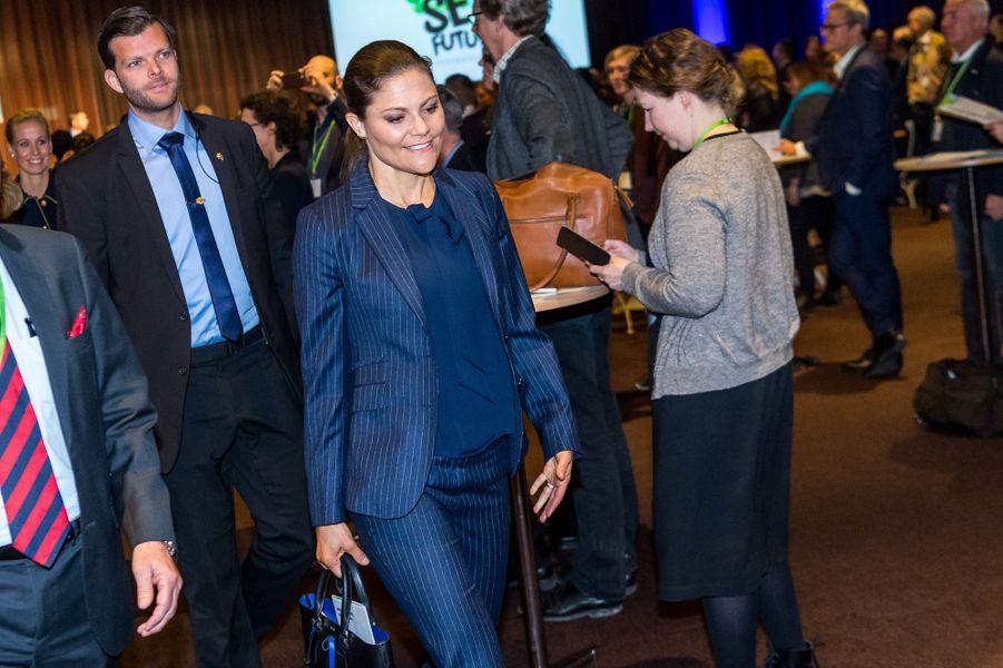 La princesse Victoria de Suède à Stockholm, le 6 mars 2017