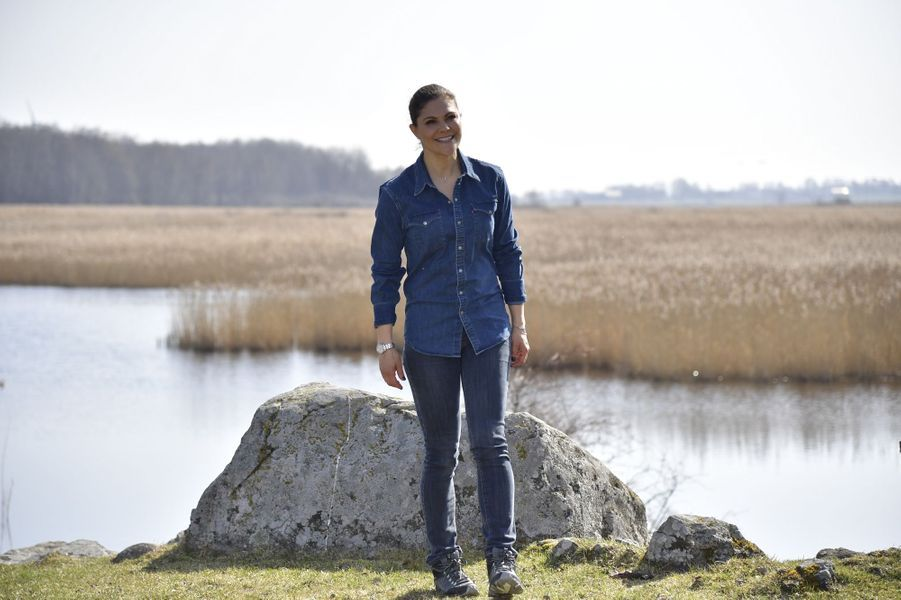 La princesse Victoria de Suède en balade dans la province de Närke, le 20 avril 2018
