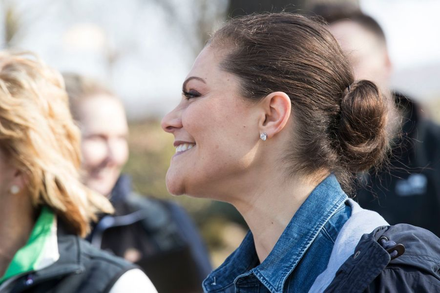 La princesse Victoria de Suède dans la province de Närke, le 20 avril 2018