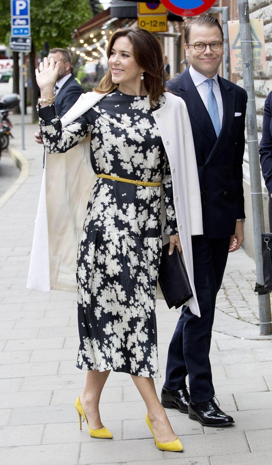 Le prince Daniel de Suède avec la princesse Mary de Danemark à Stockholm, le 30 mai 2017
