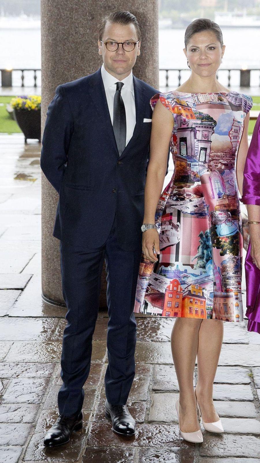 La princesse Victoria et le prince Daniel de Suède à Stockholm, le 30 mai 2017