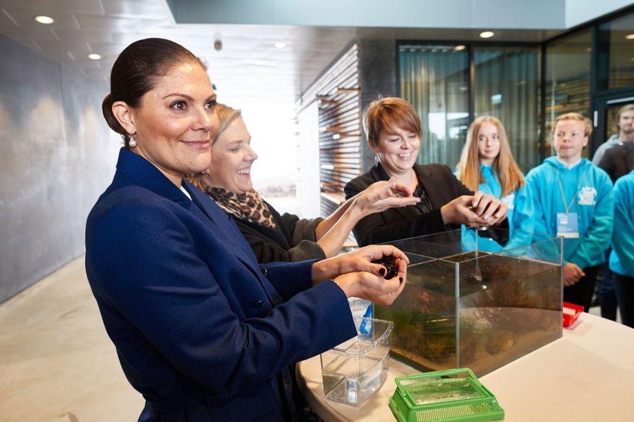 La princesse héritière Victoria de Suède inaugure le Centre d'éducation marine à Malmö, le 11 octobre 2017