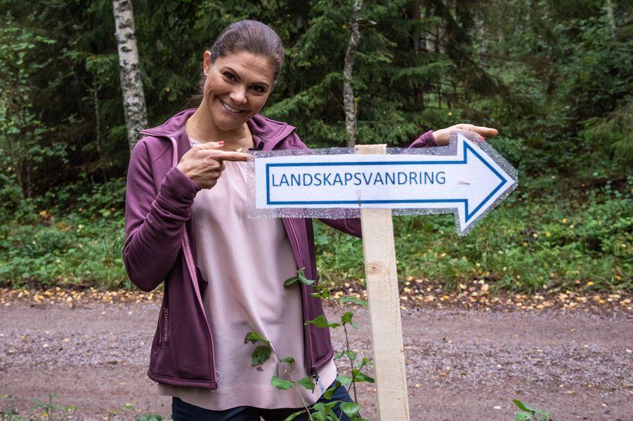 La princesse Victoria de Suède dans l'Uppland, le 12 septembre 2018