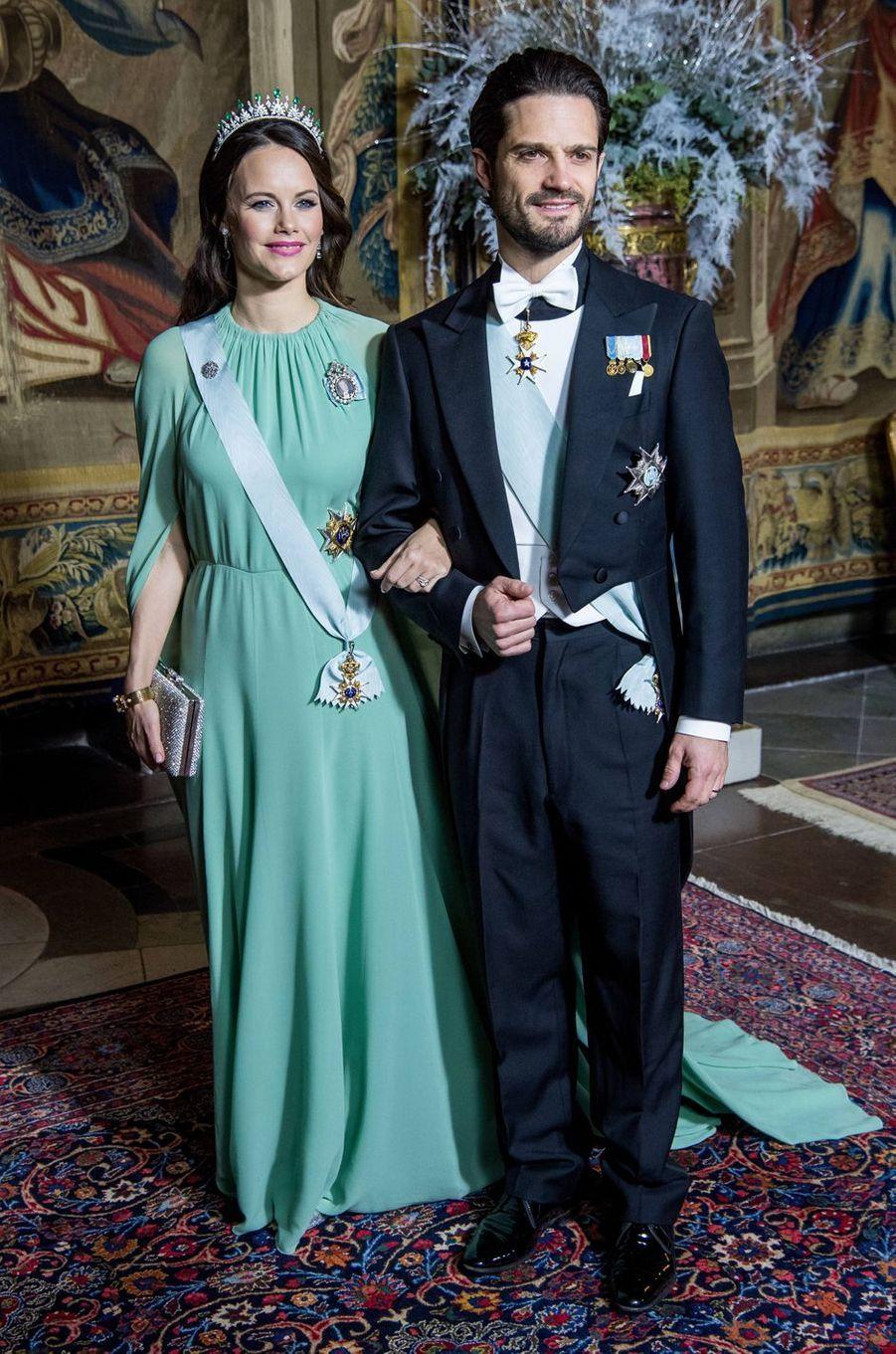 La princesse Sofia et le prince Carl Philip de Suède à Stockholm, le 11 décembre 2017