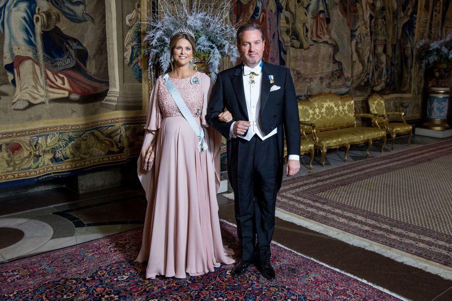 La princesse Madeleine de Suède et son mari Christopher O'Neill à Stockholm, le 11 décembre 2017