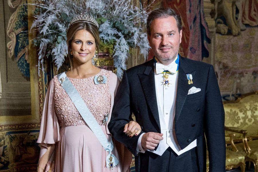La princesse Madeleine de Suède et Christopher O'Neill à Stockholm, le 11 décembre 2017