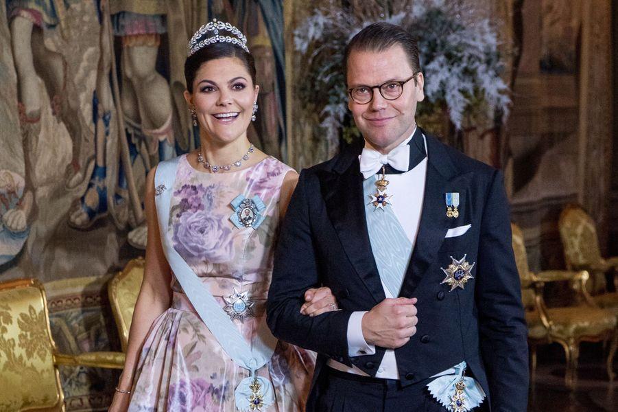 La princesse Victoria de Suède et le prince consort Daniel à Stockholm, le 11 décembre 2017