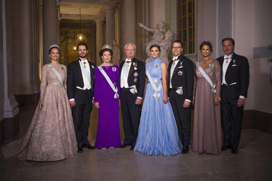 La famille royale de Suède à Stockholm, le 10 décembre 2017