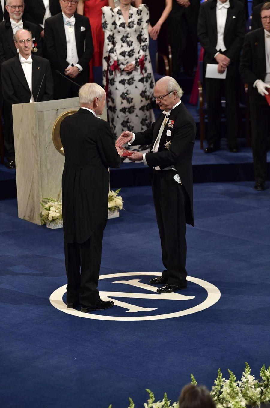 Le roi Carl XVI Gustaf de Suède à Stockholm, le 10 décembre 2017
