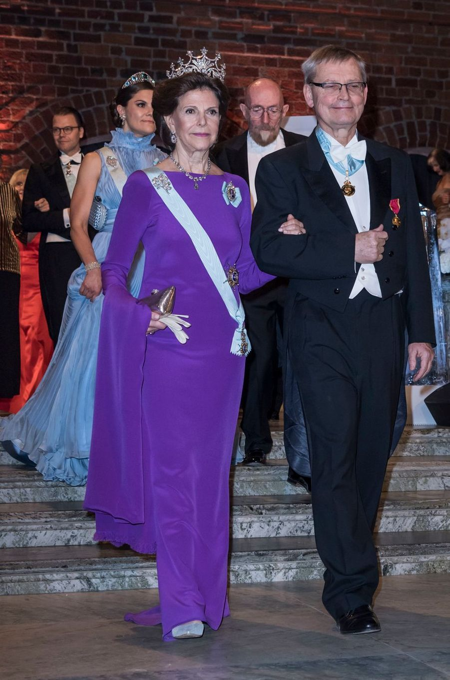 La reine Silvia et la princesse Victoria de Suède à Stockholm, le 10 décembre 2017