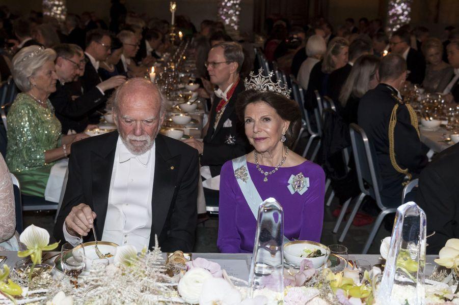 La reine Silvia de Suède à Stockholm, le 10 décembre 2017