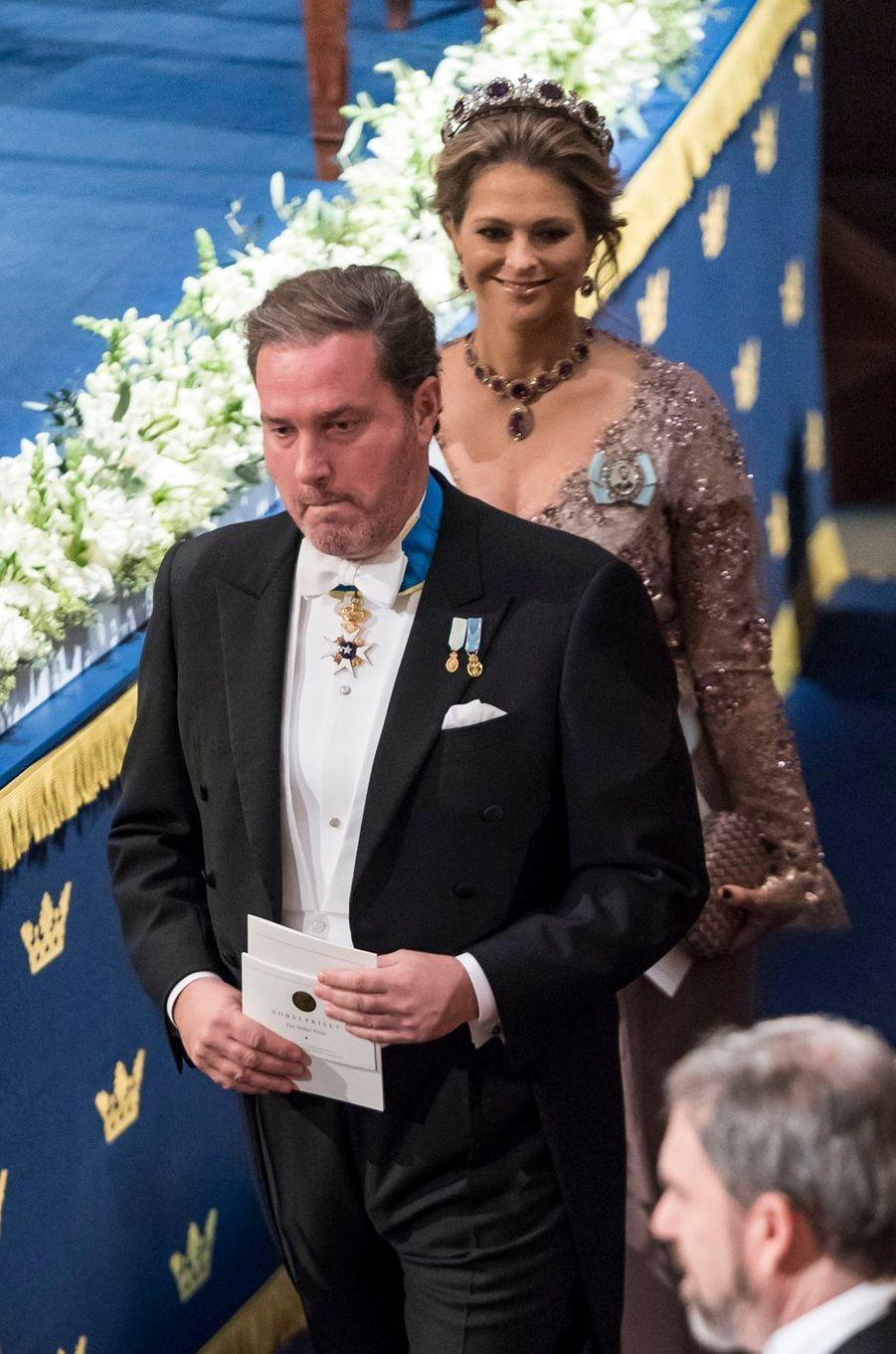 La princesse Madeleine de Suède et son mari Christopher O'Neill à Stockholm, le 10 décembre 2017