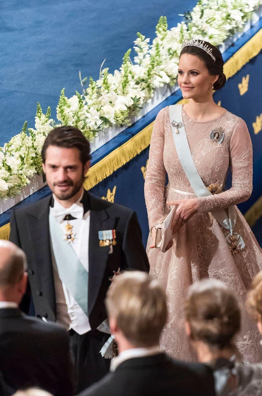 La princesse Sofia et le prince Carl Philip de Suède à Stockholm, le 10 décembre 2017