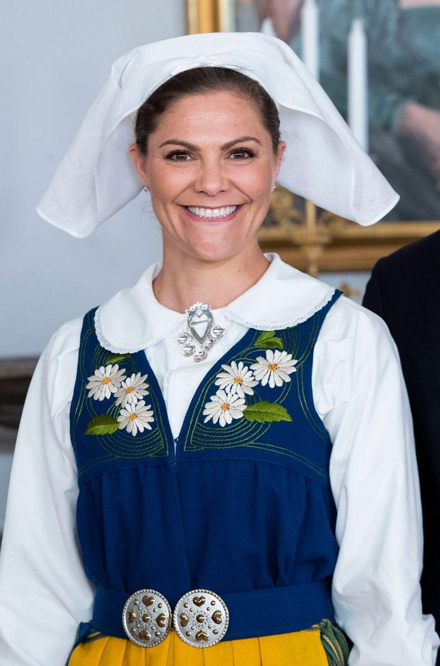 La princesse Victoria de Suède à Stockholm, le 6 juin 2018