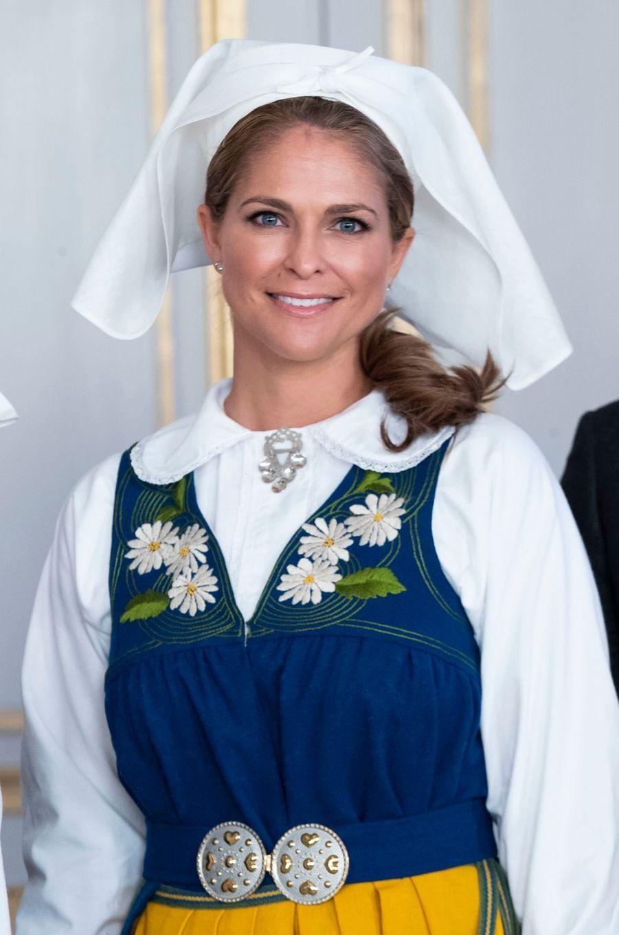 La princesse Madeleine de Suède à Stockholm, le 6 juin 2018