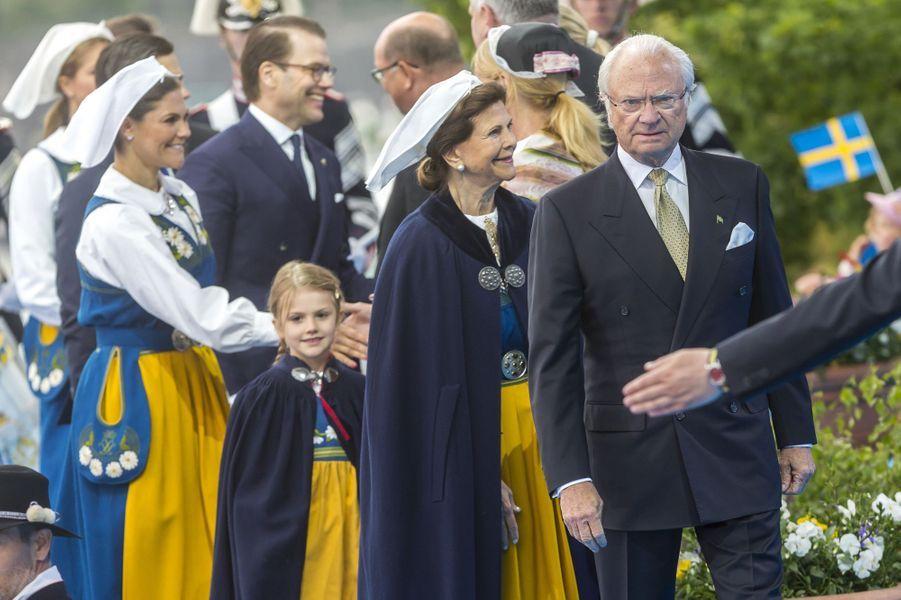 La famille royale de Suède à Stockholm, le 6 juin 2018