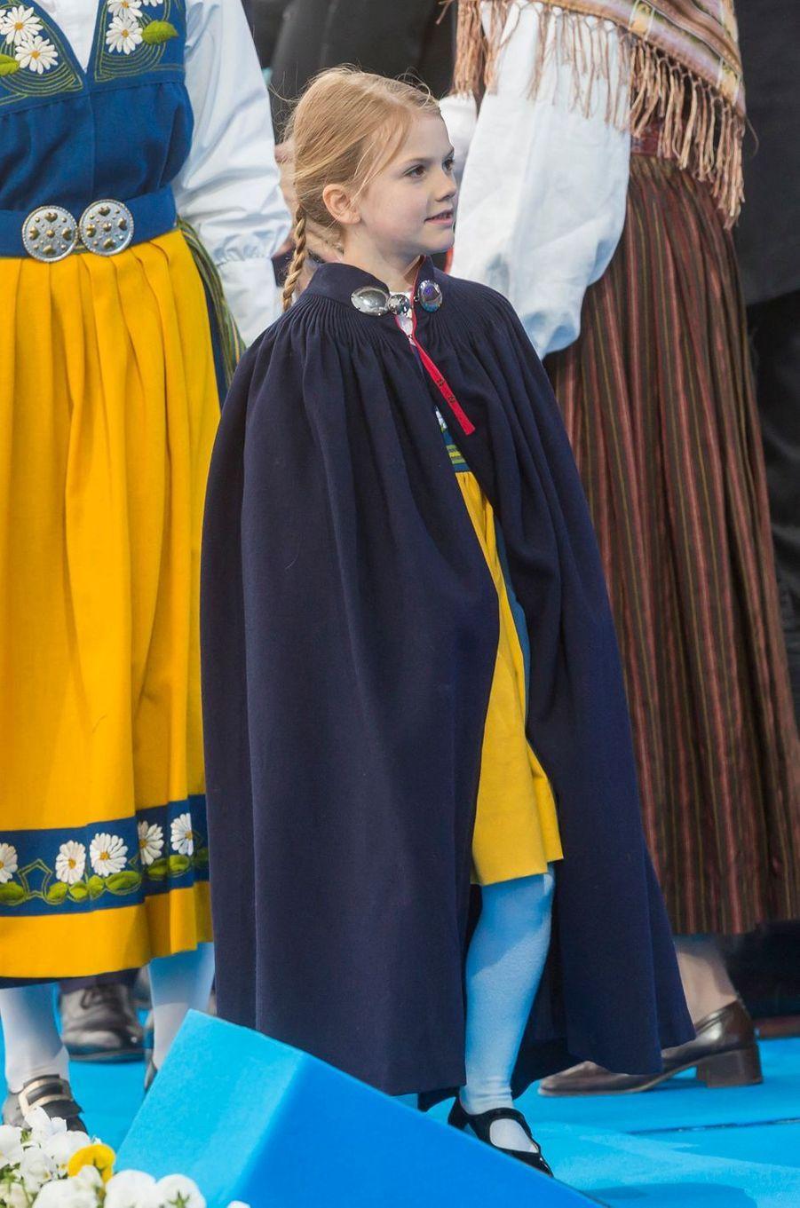 La princesse Estelle de Suède à Stockholm, le 6 juin 2018